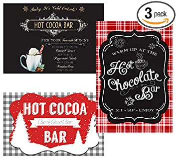 Amazon Com Hot Chocolate Cocoa Bar Party Supply Decorations And