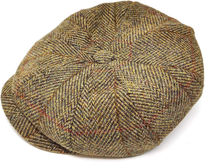 Failsworth Stornoway Genuine Harris Tweed Flat Cap Olive 2017