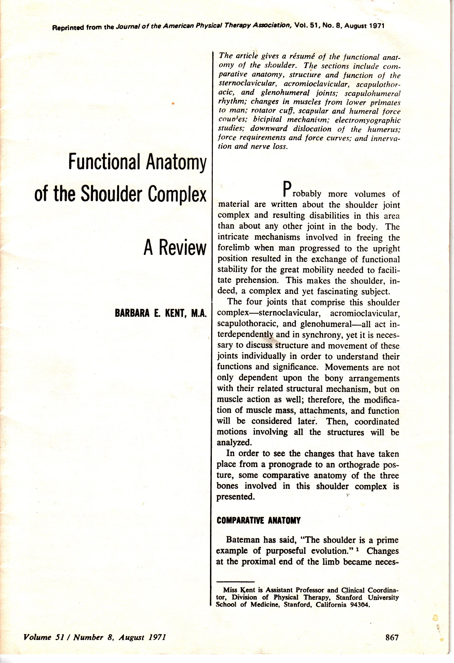 Functional Anatomy of the Shoulder Complex: A Review: Barbara E ...