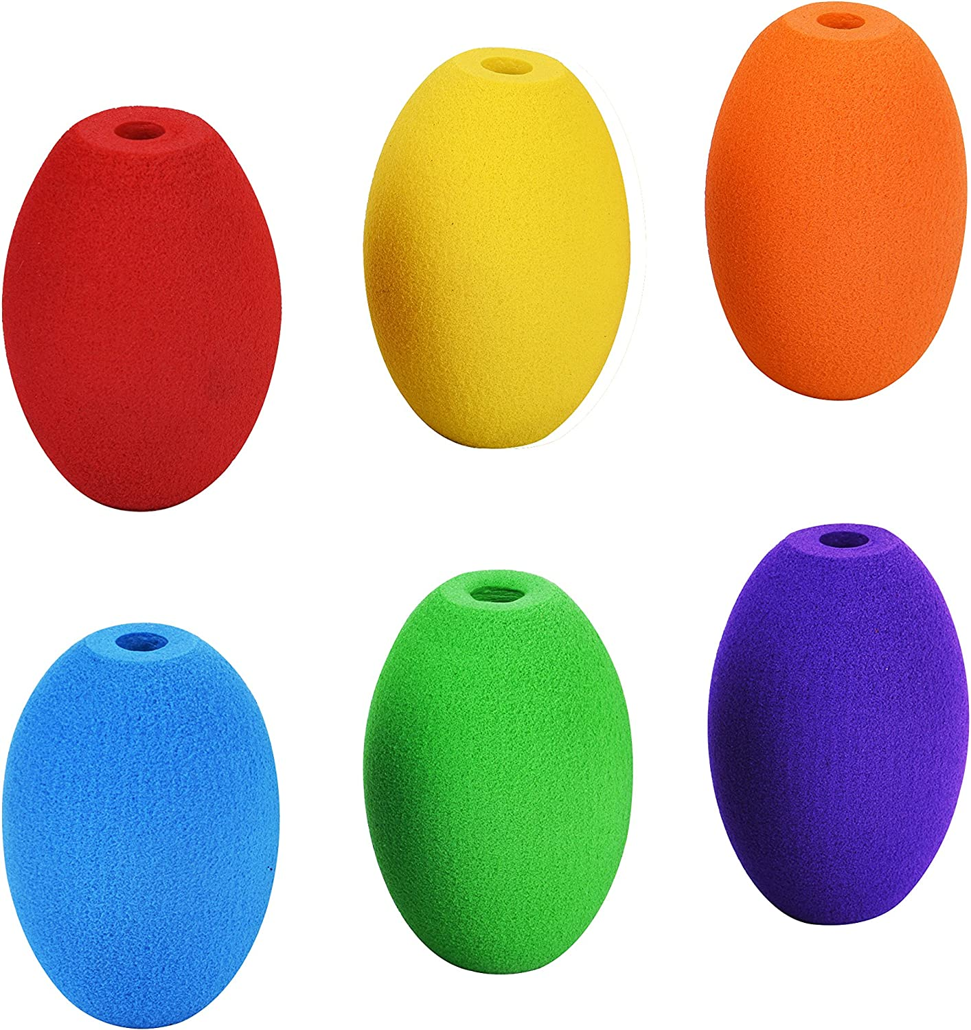 Special Supplies Egg Pencil Grips for Kids and Adults Colorful, Cushioned Holders for Handwriting, Drawing, Coloring - Ergonomic Right or Left-Handed Use - Reusable (6-Pack)