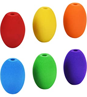 Special Supplies Egg Pencil Grips for Kids and Adults (6-Pack) Colorful,