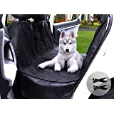 Transpawt Luxury Dog Car Seat Covers - Hammock Waterproof Seat Covers for Cars, Trucks and SUVs - Non-Slip, Side Protection, Quilted, Durable, and Machine Washable. Includes Bonus x2 Dog Seat Belts.