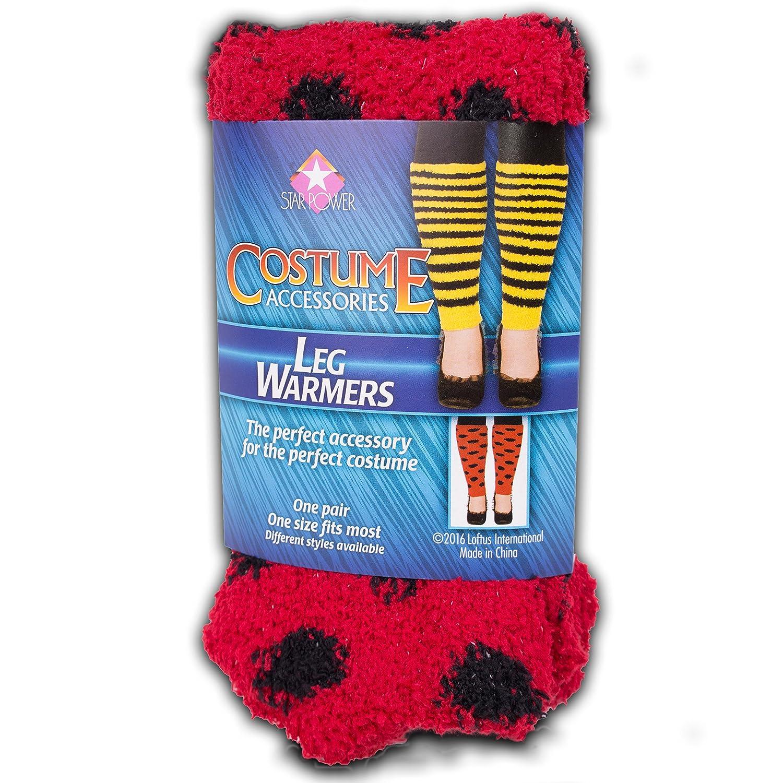 Loftus International Star Power Women Ladybug Costume 2Pc Leg Warmers, Red Black, One-Size (14) Novelty Item GEU0V 099996044891