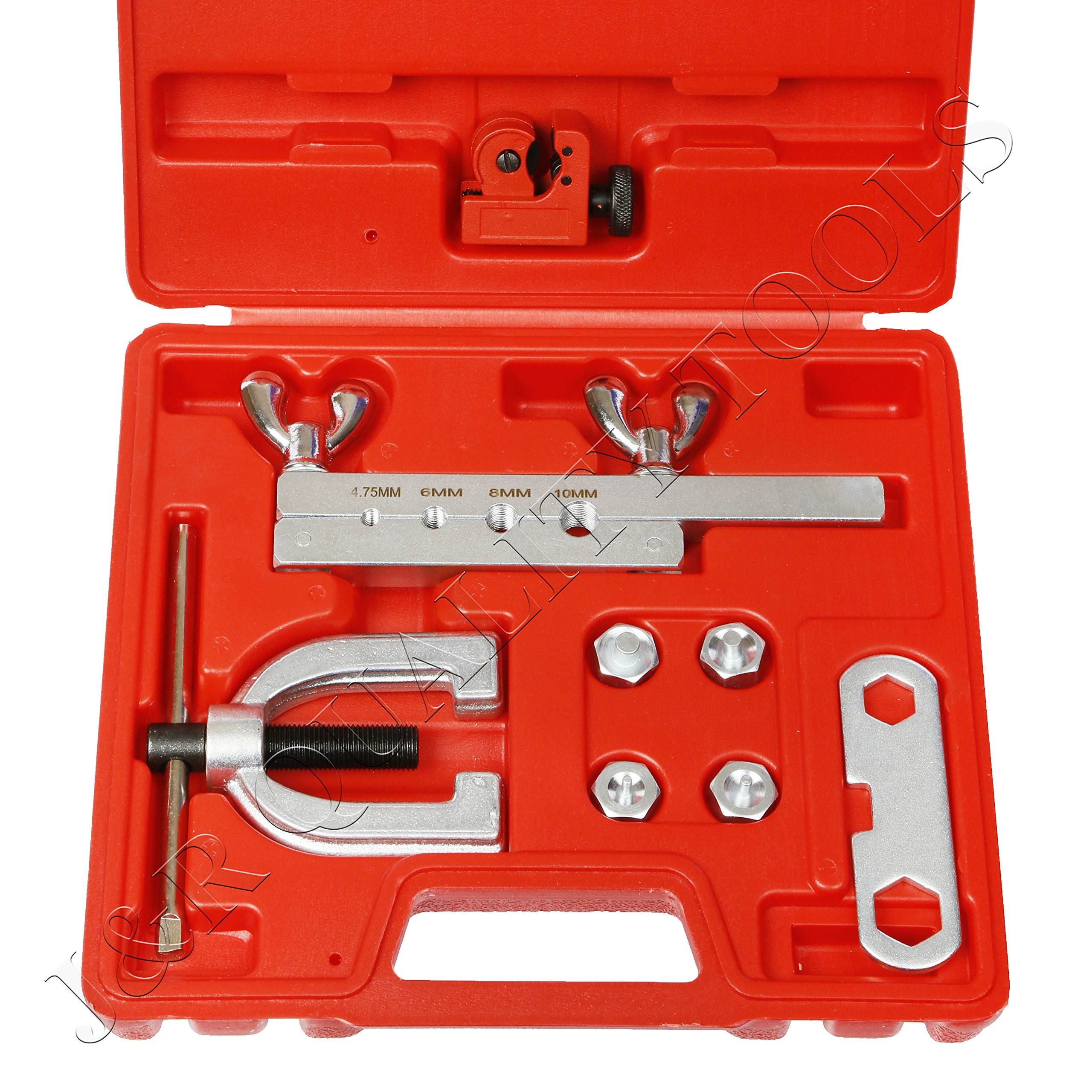 ISO/Bubble Flaring Tool Kit, 9 Piece | Includes Blow-Molded Case W/Mini Pipe Cutter