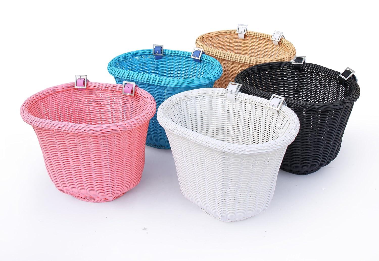 with Leather Straps Colorbasket Front Handle Bar Adult Bike Basket Water Resistant