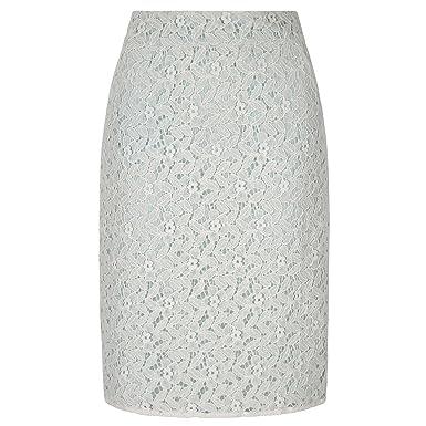 29e7358eec84 Yumi Womens/Ladies Lace Pencil Skirt (12 UK) (Ivory): Amazon.co.uk: Clothing