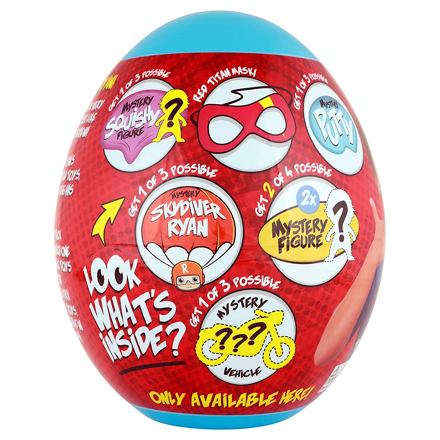 Ryans World Giant Mystery Egg Series 2 Toy Blue Bonkers Toys B07J5RCZQT