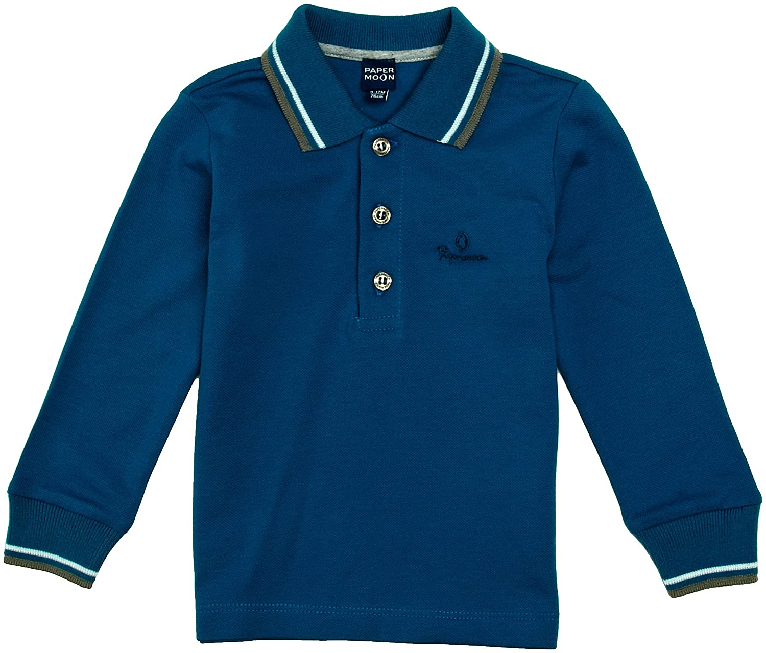 Papermoon Baby Boy's Long Sleeve Casual Polo Shirt 9PM61290/00749/267/1-3