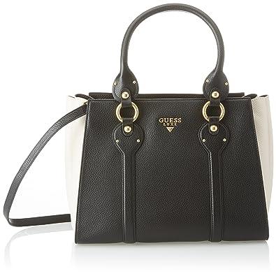 Guess Bags Satchel, Sacs portés main femme, (Black Multi), 15x22.8x30.5 cm (W x H L)