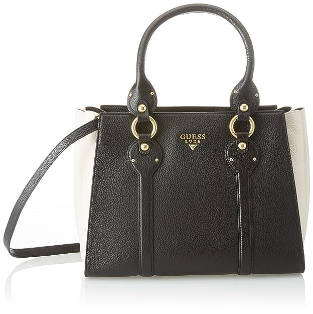 Bags Satchel, Womens Top-Handle Bag, Multicolour (Black Multi), 15x22.8x30.5 cm (W x H L) Guess