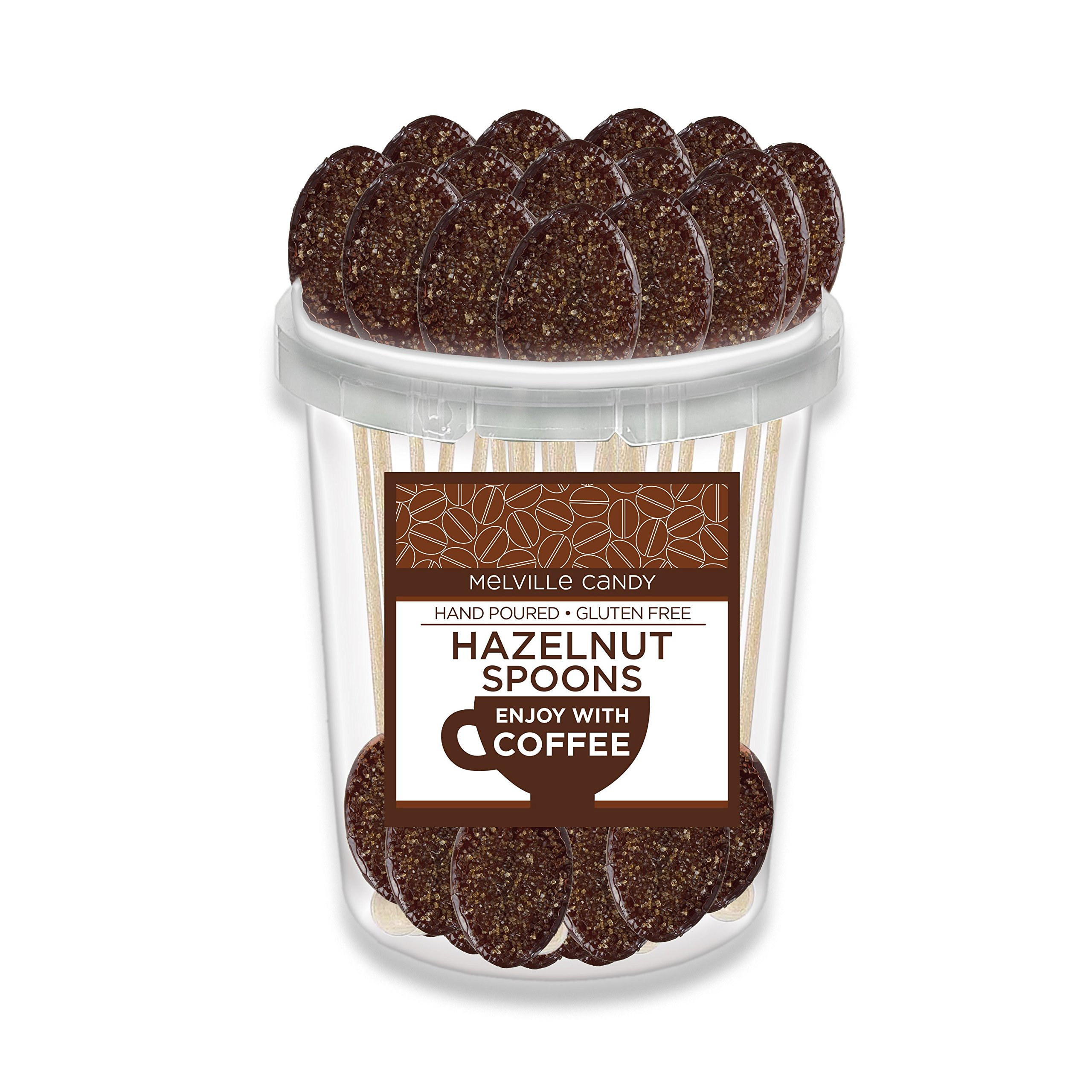 Hazelnut Flavored Coffee Spoon Hard Candy Stirrer (30 Count) by Melville Candy