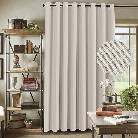Amazon.com: H.Versailtex Primitive Linen Look Room Darkening Thermal ...