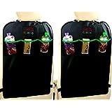 2 Pack - EPAuto Car Backseat Kick Mats for Seat Back Protectors w/ Storage Pocket