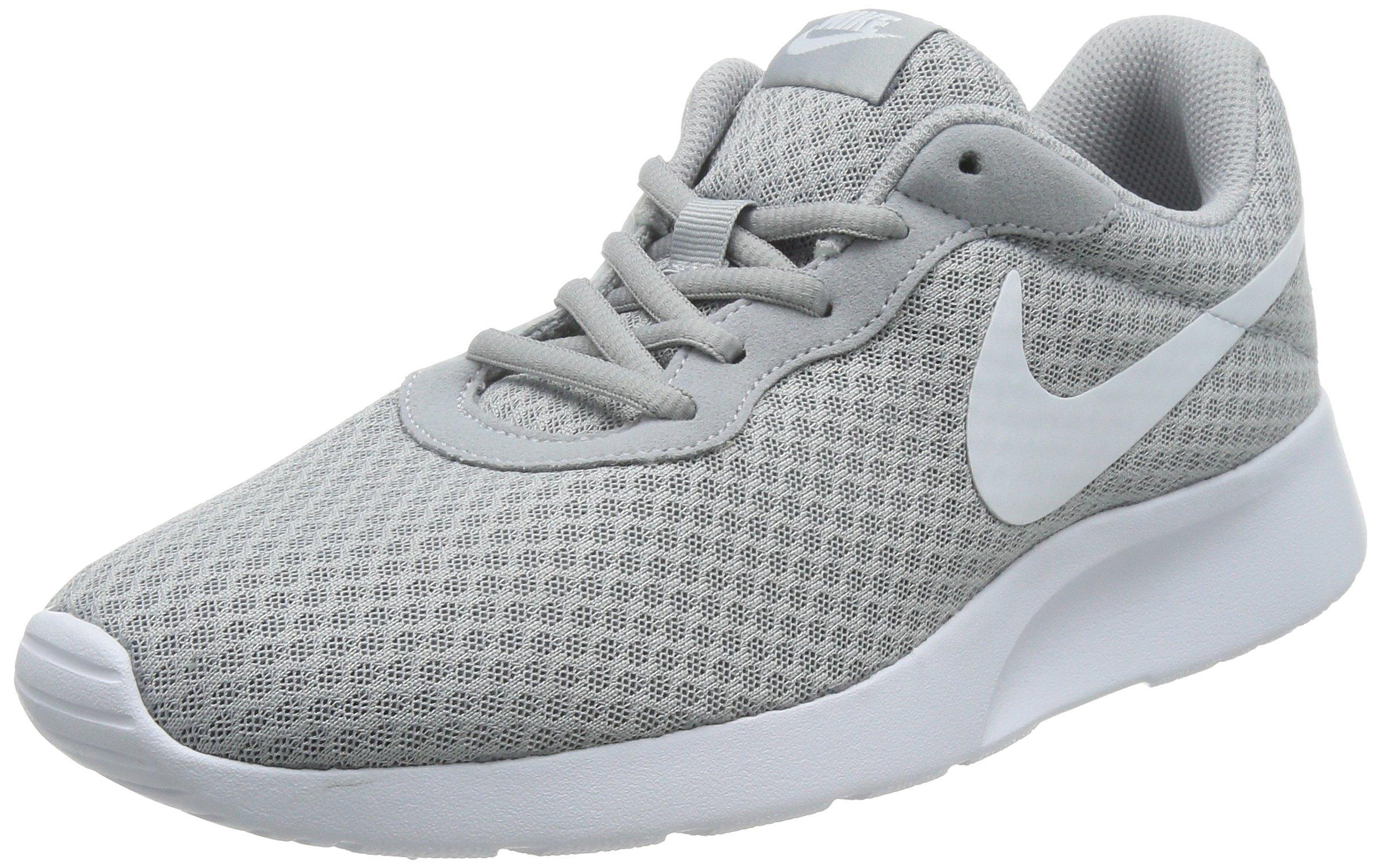 Nike Mens Tanjun Running Sneaker Wolf Grey/White 8.5