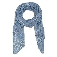 Seiden-Tuch Damen Paisley Print - Made in Italy - Eleganter Sommer-Schal für Frauen - Hochwertiges Seidentuch / Seidenschal - Halstuch und Chiffon-Stola Dezent Stilvoller Print von Zwillingsherz
