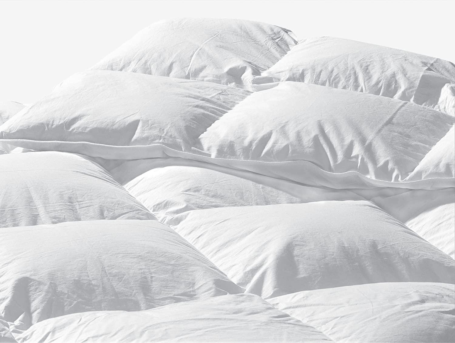Highland Feather Manufacturing 18-Ounce Strasbourg European Down Duvet, Twin, White Highland Feather Manufacturing Inc. B1-183-T18