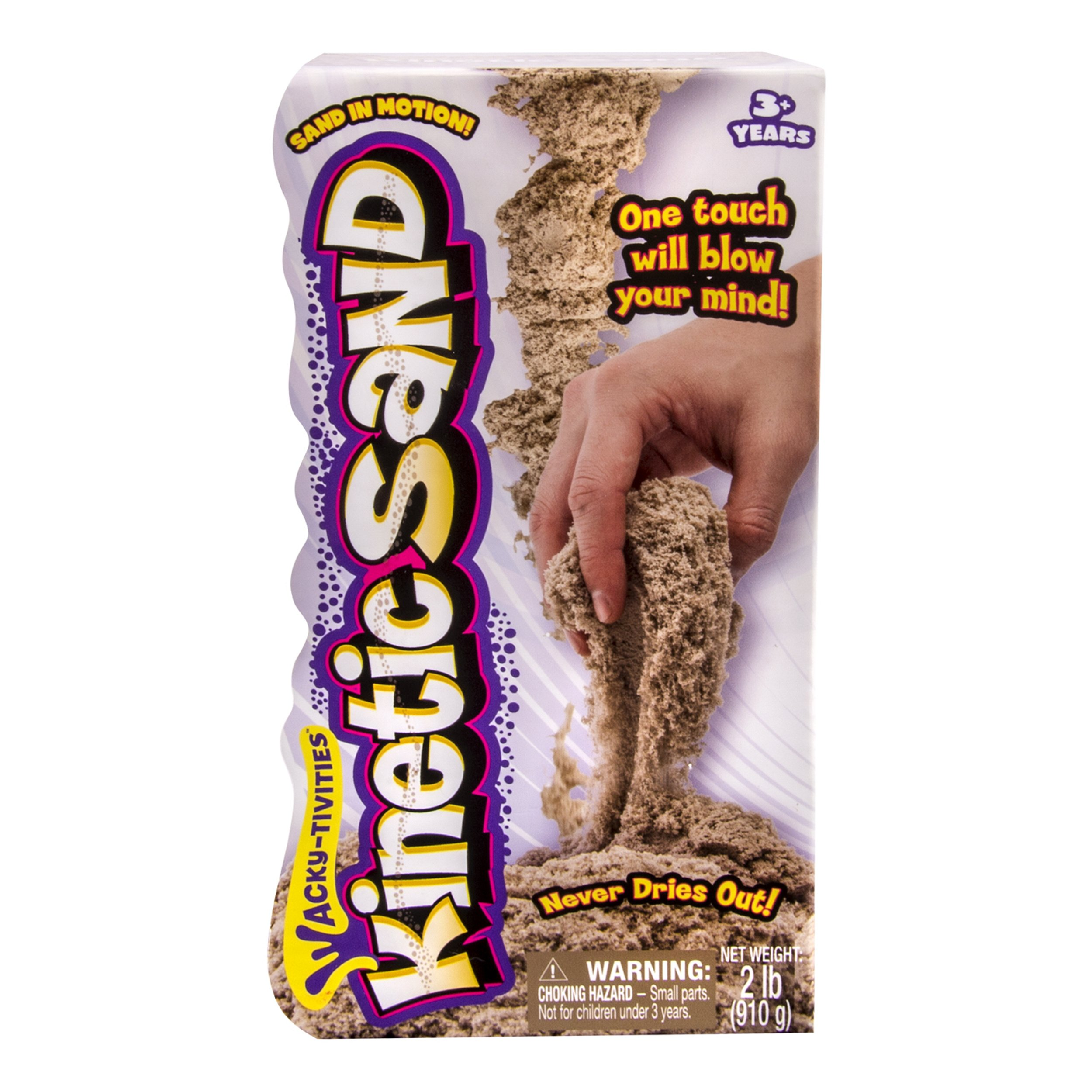 Kinetic Sand The One Only, 2lb Brown ages 3 up.
