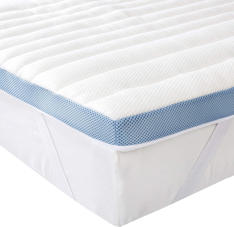Basics 7-Zone-Air-Memory-Foam-Mattress-Topper 140 x 190 cm