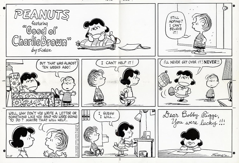 Peanuts Comic Strips by Charles Schulz - ORIGINAL SUNDAY PHOTOSTAT PRINT - July 15, 1973 -