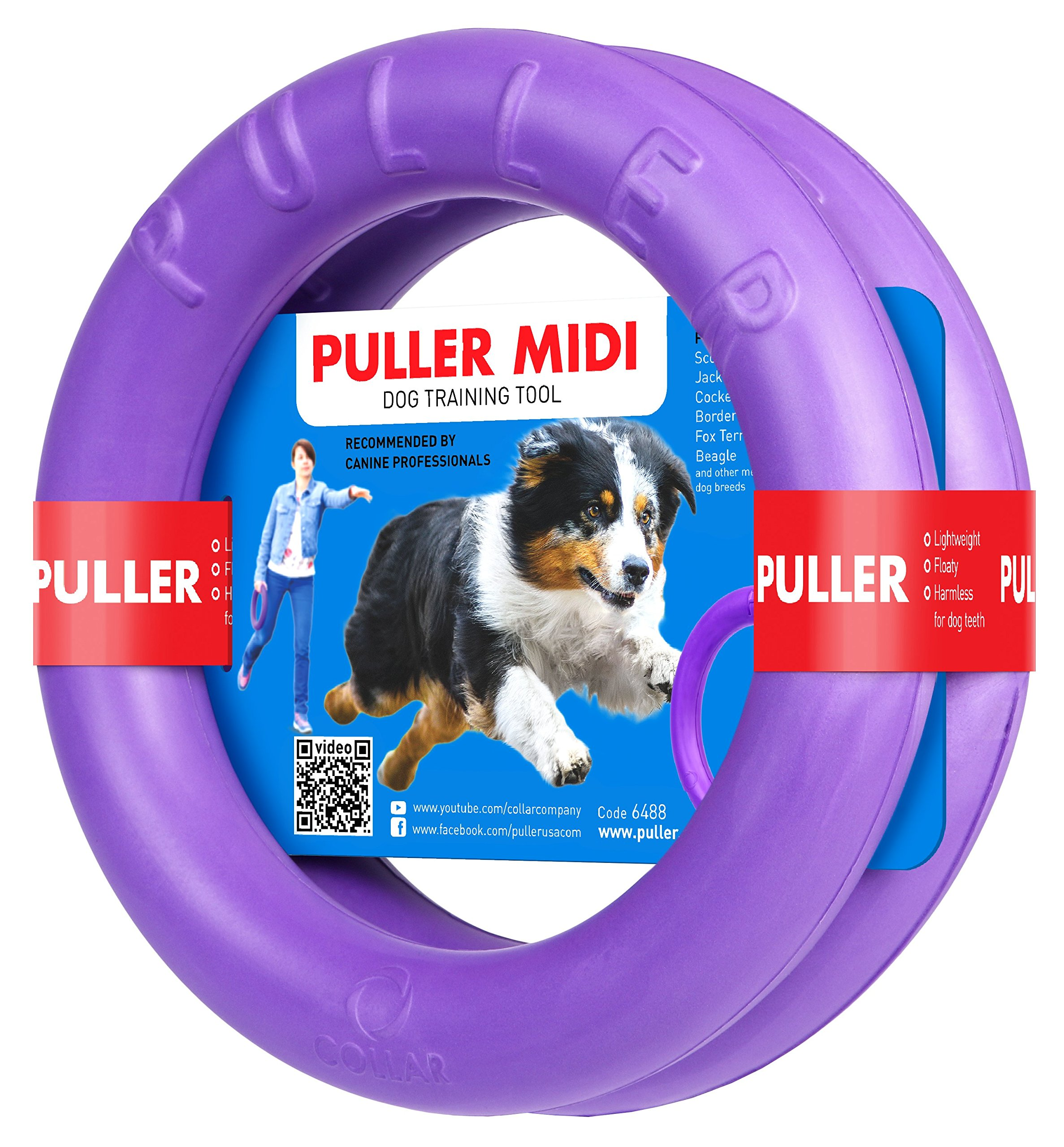 Puller Midi Two Rings not just Toy for Dogs Active Toy for Dogs Fitness Toys for Dogs Ideal for Medium and Small Dog Breeds Dog