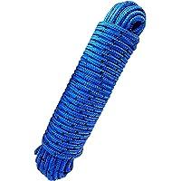 Polyesterseil Polyester Seil 6mm 20m Schwarz Geflochten PES Tauwerk Leine