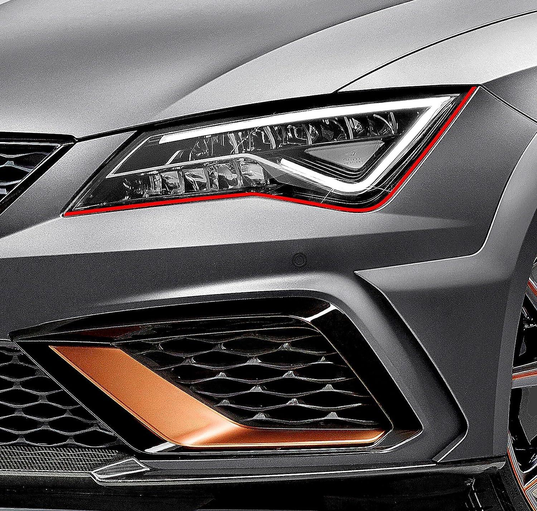 Finest-Folia Devil Eye/® fanali Stripe per Seat Ibiza Cupra ST SC 6J RS Schermo