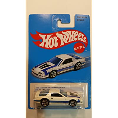 Hot Wheels Mattel 1985 Chevrolet Camaro Z28 IROC-Z White & Blue - Collectible Limited Edition Retro 2015 Series [1 of 8] #DNF32-D910: Toys & Games