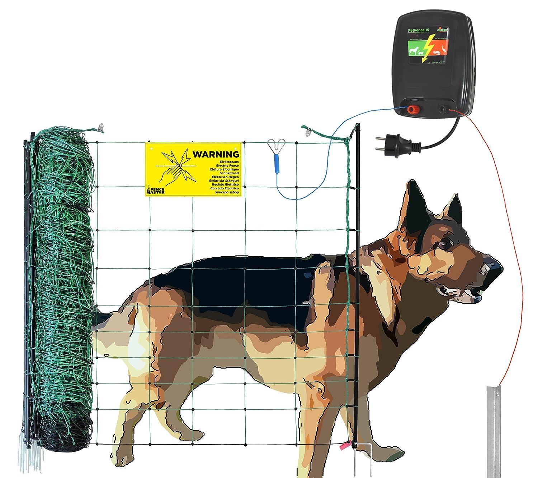 Hundezaun aufstellfertig ( 50m ) beliebig erweiterbar - Weidezaun ...