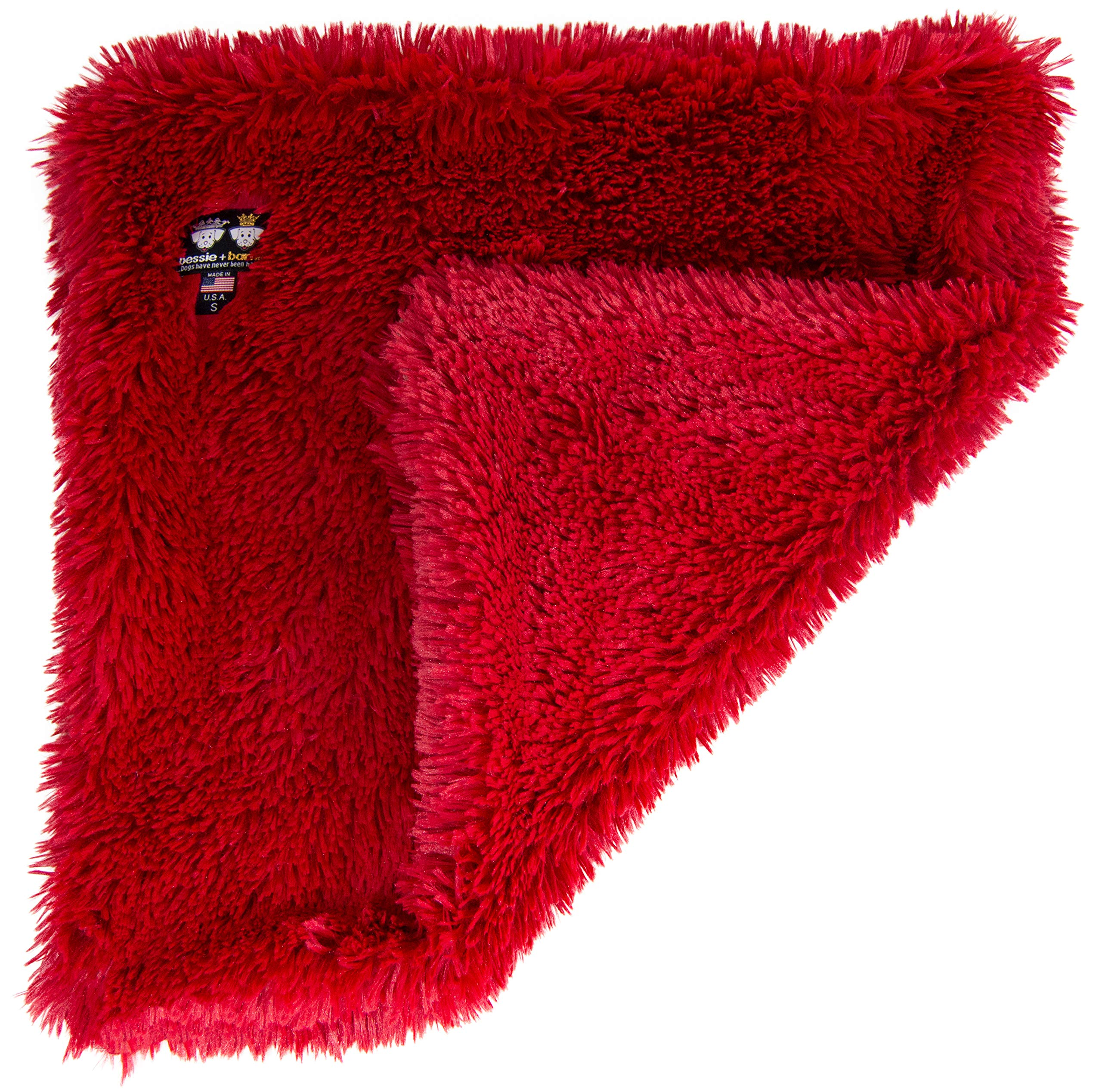 Bessie and Barnie Lipstick Luxury Shag Ultra Plush Faux Fur Pet, Dog, Cat, Puppy Super Soft Reversible Blanket (Multiple Sizes),XS - 20'' x 20'' by BESSIE AND BARNIE