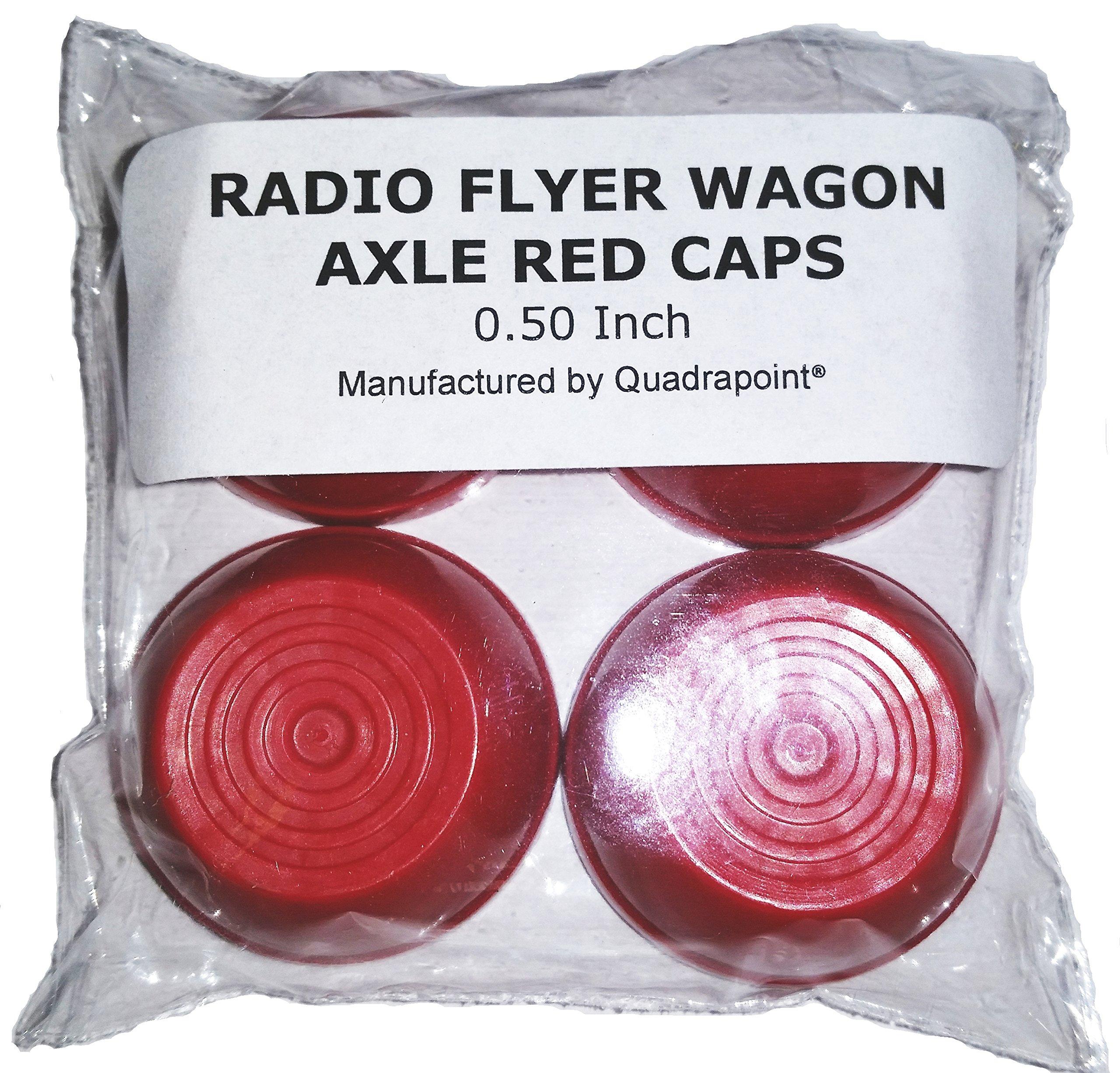 Quadrapoint Radio Flyer Large Wheel Caps 0.50'' RED, PARTS