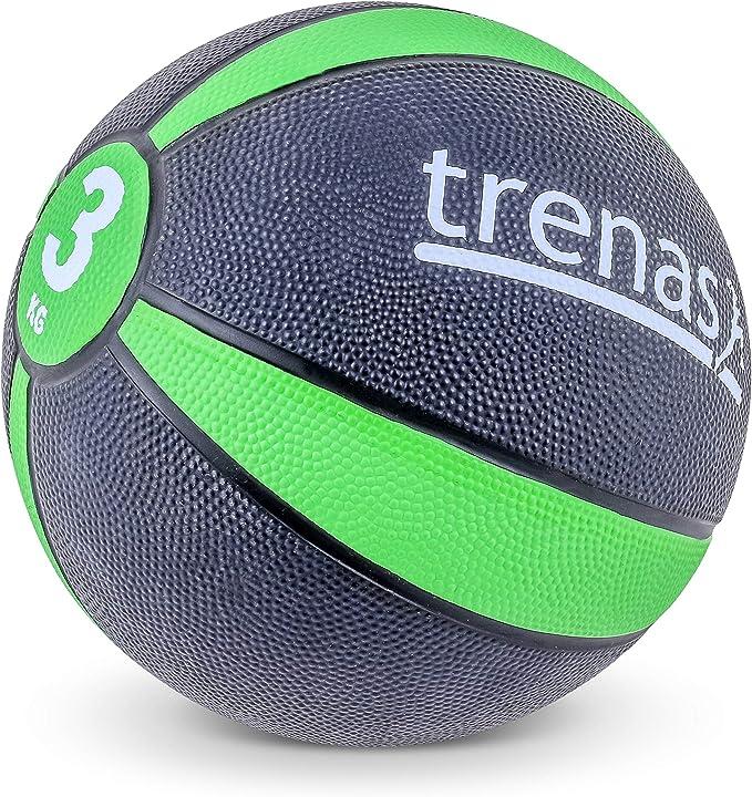 trenas Balón Medicinal de Goma Pro – 3 kg: Amazon.es: Deportes y ...