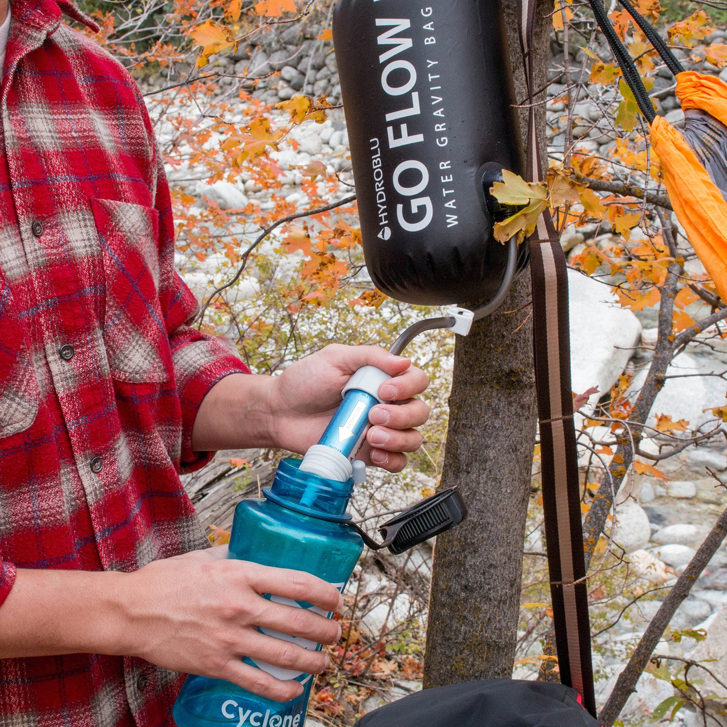 HydroBlu Go Flow Gravity Water Filter Bag with Versa Flow Water Filter Kit by HydroBlu (Image #5)
