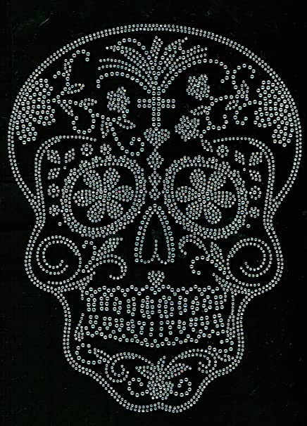 Image Unavailable. Image not available for. Color  Sugar Skull Clear Rhinestone  Transfer ... 9c2a0d7ba139