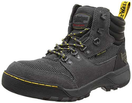 Dr. Martens Rapid S1p, Zapatos de Seguridad Unisex Adulto, Gris Black/Dark