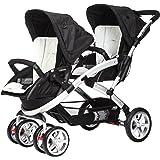 Casualplay Stwinner - Pack de silla de paseo para gemelos y bolso, color hielo (