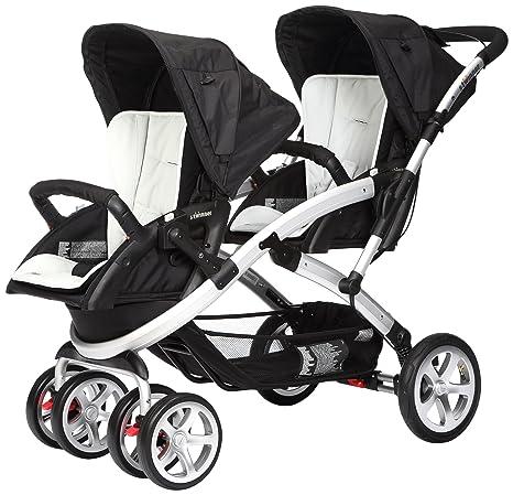 Casualplay Stwinner - Pack de silla de paseo para gemelos y bolso, color hielo (blanco)
