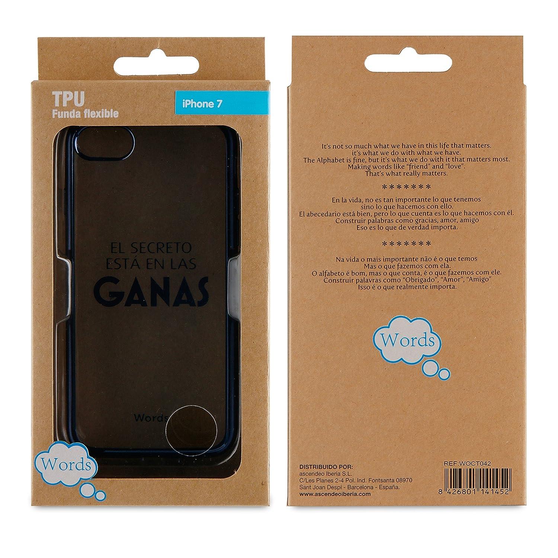 Funda TPU Transparente Love Always iPhone 7 Words