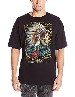 8dcbab30f74d Amazon.com: Liquid Blue Men's Grateful Dead-GD On Deck T-Shirt: Clothing