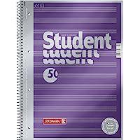 Brunnen Student Premium Duo, 1067174, notitieblok, verfijnd omslagblad met metallic effect Gelijnde lijntjes. A4