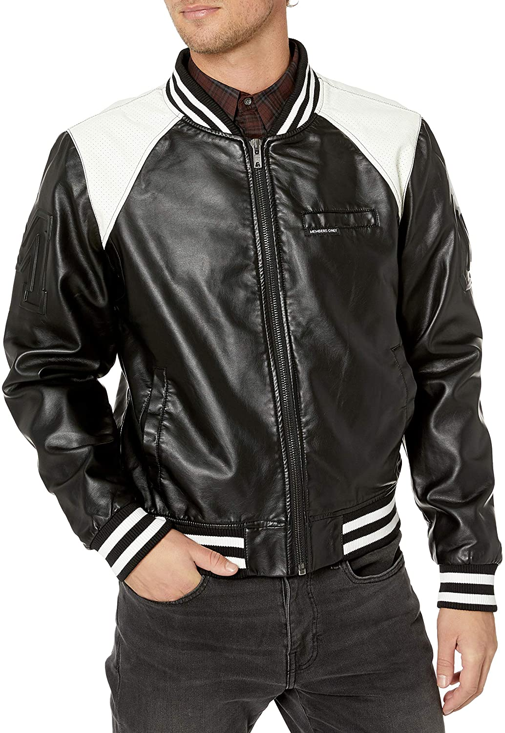 80s Windbreakers, Jackets, Coats Members Only Mens Vegan Leather Bomber $69.00 AT vintagedancer.com