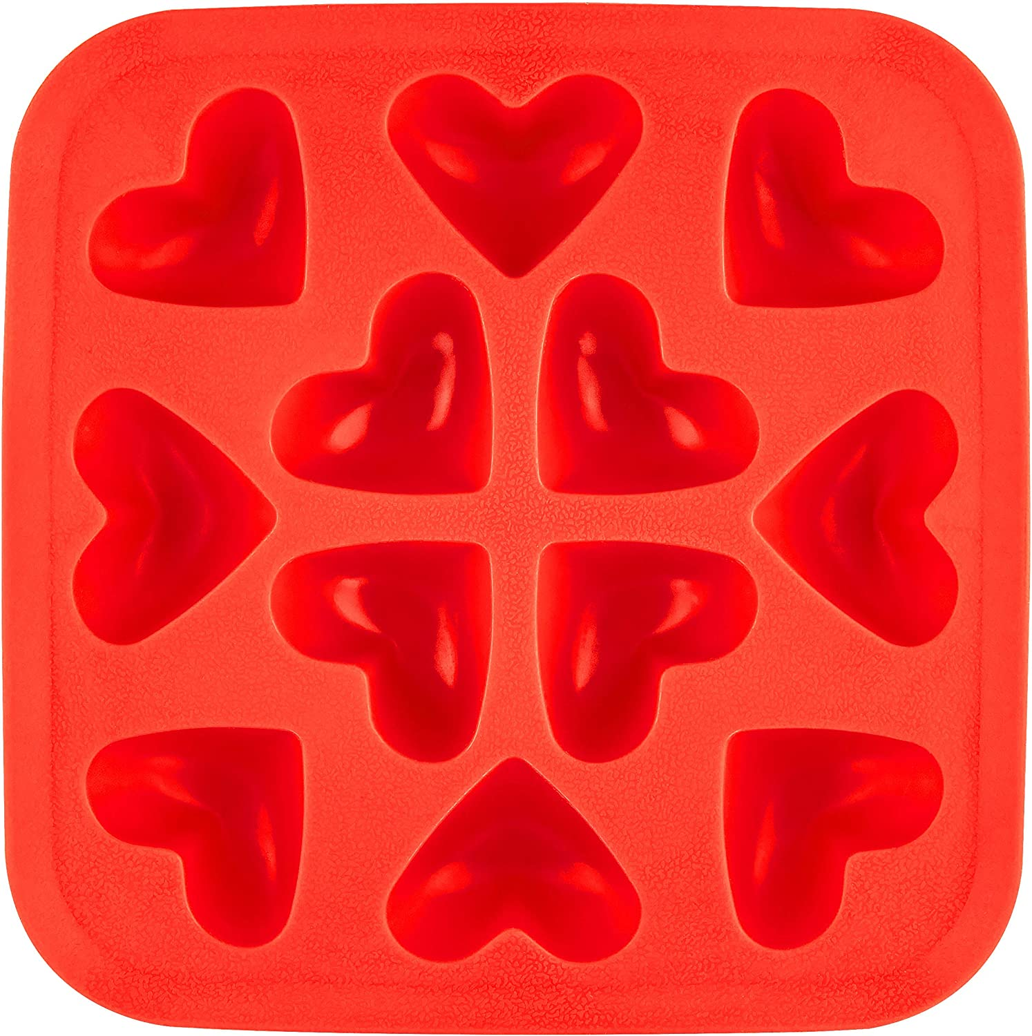 Fairly Odd Novelties Heart Shaped Tray Fun Whimsical Novelty Ice Cube Molds - Perfect for Valentines Day or Weddings, One Size, Red