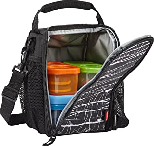 Rubbermaid LunchBlox Lunch Bag, Small, Black Etch