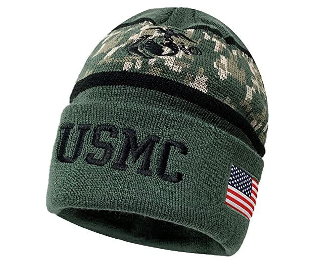 813d43d2b89 Image Unavailable. Image not available for. Color  U.S. Marines Beanie (USMC)