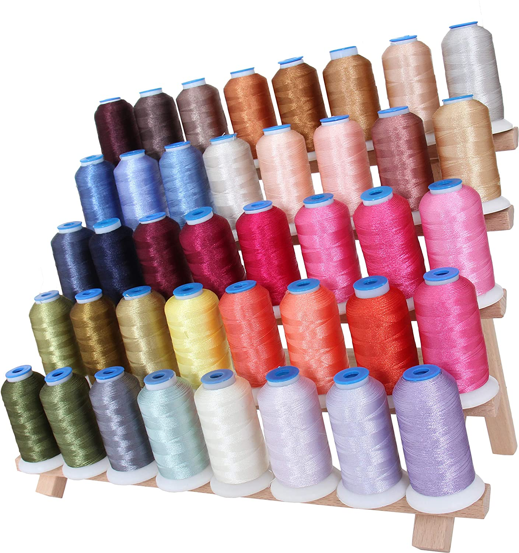 500M Spools 40wt For Brother Babylock Janome Singer Pfaff Husqvarna Bernina Machines Threadart 40 Spool Polyester Embroidery Machine Thread Set Brilliant Colors 4 Sets Available