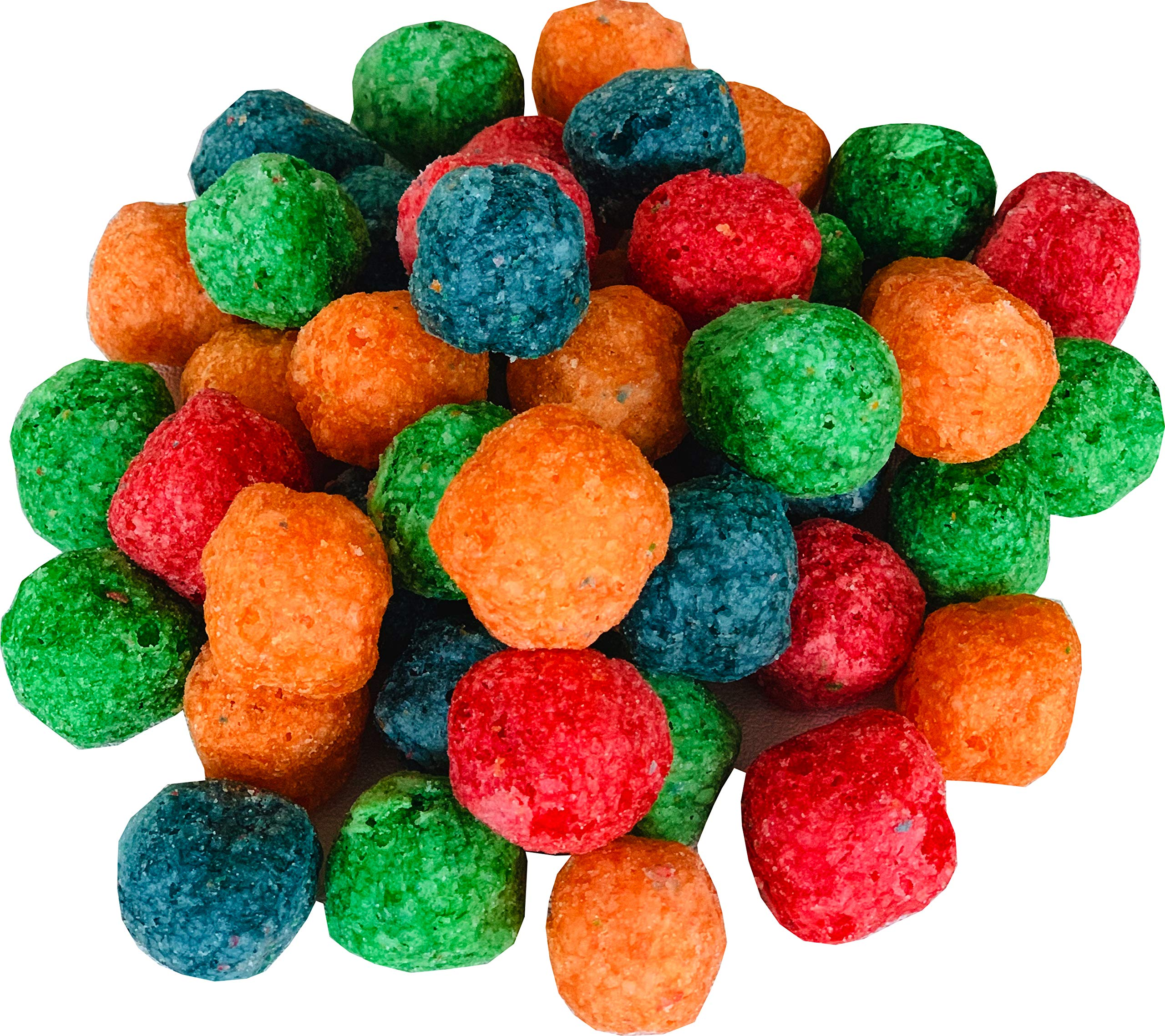 Awsum Snacks Dragons Breath Nitrogen Fruity Sweet Puff Cereal Snack Puffs Balls Gluten Free Four Colors Four Natural Flavors, Always Fresh 10 bags (1 bag -300 grams, 10.58 oz)