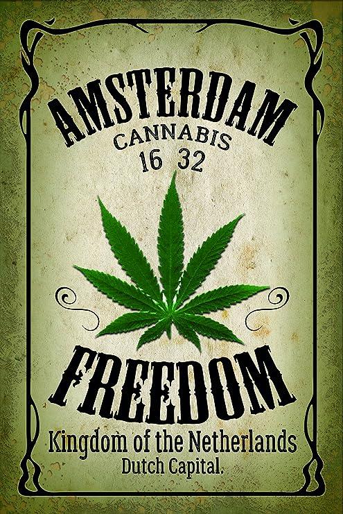 Schatzmix Amsterdam Freedom Cannabis Marijuana - Placa ...