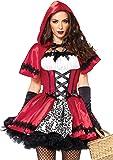 Leg Avenue 85230 - conjunto gótico del traje de Caperucita, de 2 piezas, tamaño M, rojo / blanco