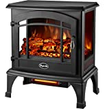Comfort Glow EQS5140 Sanibel Quartz Electric Stove, 4600 BTU, Black