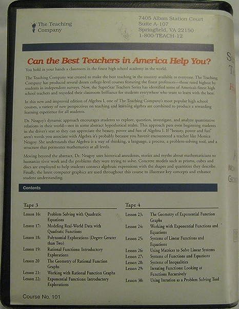 Amazon.com: SuperStar Teachers (High School Series) Algebra 1 ...