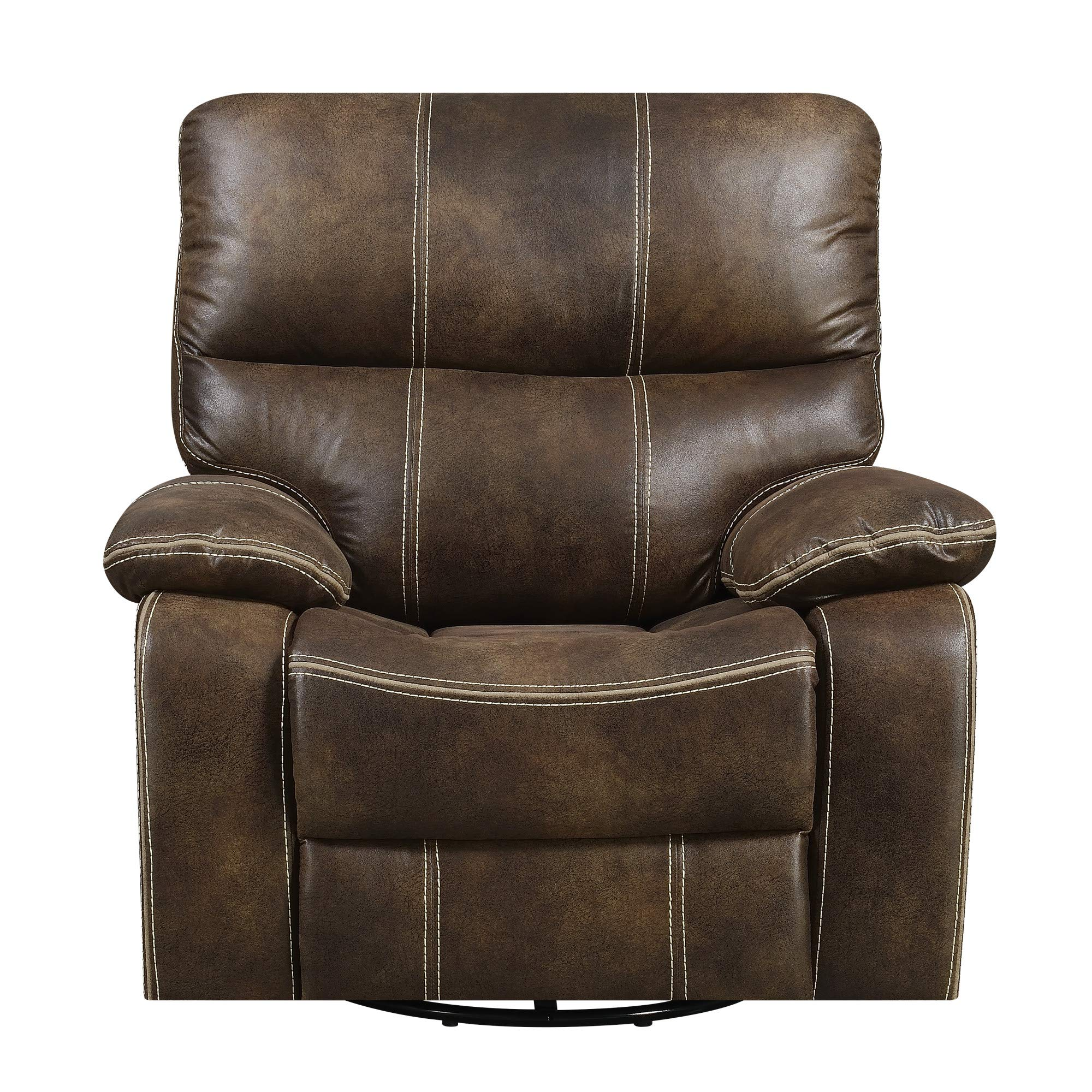 Bassfield Swivel Reclining Glider in Brown with Swivel, Glide, And Recline Motion, by Artum Hill